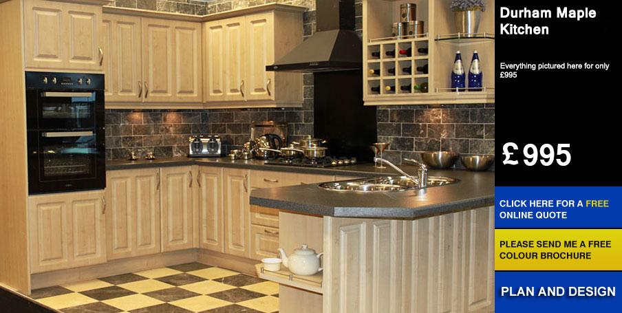 durham maple kitchen for sale