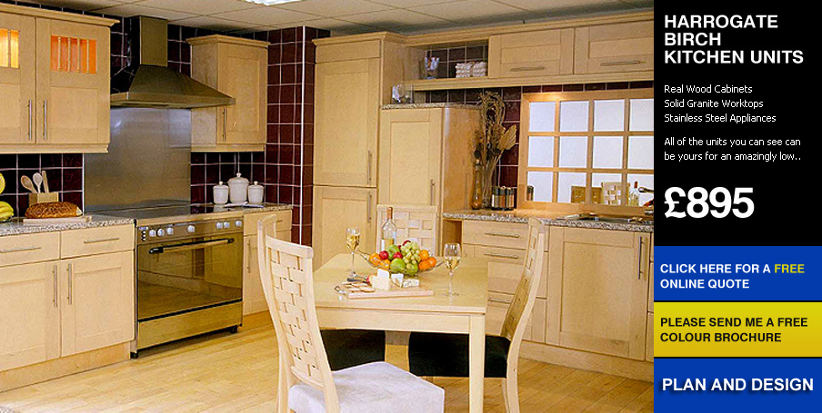 Harrogate Birch Kitchen For Sale