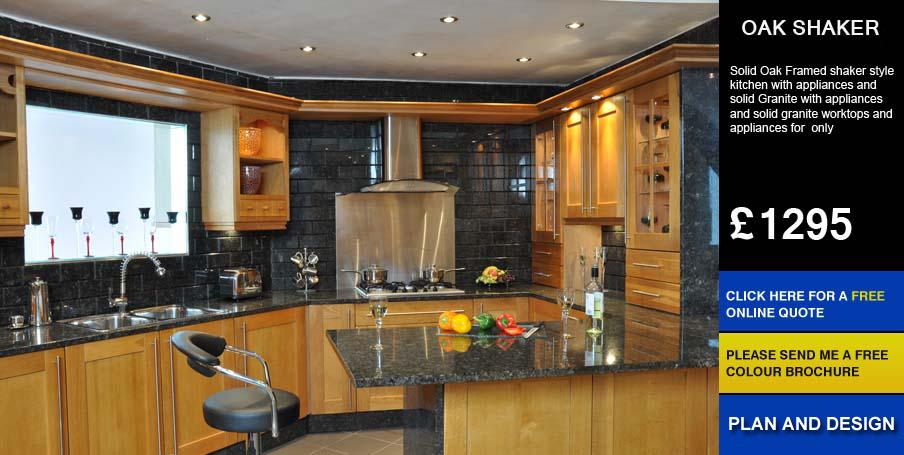 oak shaker kitchen for sale